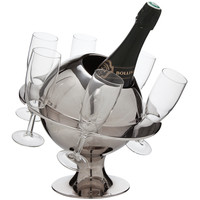 Novelty French Modernist Chrome Planet Champagne Cooler c.1955-60