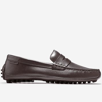 Grant Canoe Penny Loafer in T Moro Dark Brown by Cole Haan