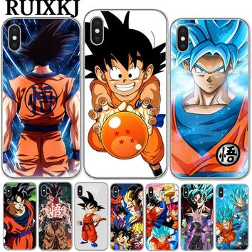 Phone Cases Dragon Ball DragonBall z Soft TPU Phone Case For iPhone X 10 goku Cover for iPhone 5S SE 6 6S Plus 7 7Plus 8 8Plus