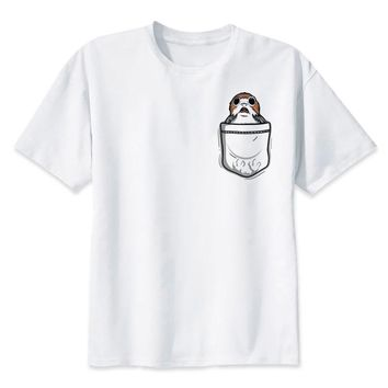 star wars T shirt men porg printed t shirt funny anime t-shirt O Neck white TShirts male streetwear Top Tees