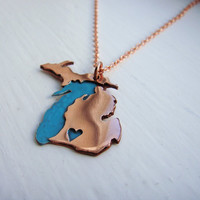 Copper Full Michigan Love Made to Order over your Favorite City