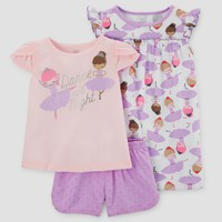 Toddler Girls' Three-Piece Pajama Set with Gown Purple - Just One You™ Made by Carter's®