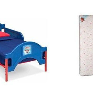 Paw Patrol Toddler Character Bed and Toddler Mattress