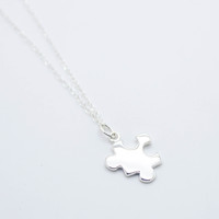Puzzle sterling silver necklace