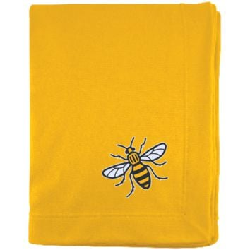 Manchester Bee Embroidered Sweatshirt Blanket