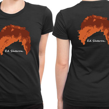 Ed Sheeran Red Hair Ginger 2 Sided Womens T Shirt