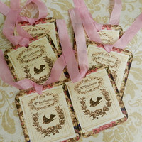 French Inspired Tags French Script Tags Vintage Tags