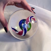 Gorgeous Handmade Glass Art  Paperweight - Unique !