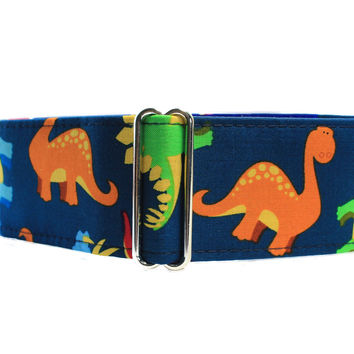 Greyhound Collar, Dinosaur Martingale Collar, Martingale Dog Collar, 2 Inch Martingale Collar Martingale Collar for Boys Dinosaur Dog Collar