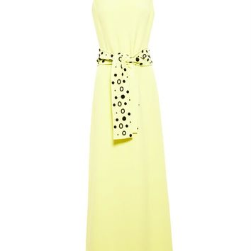 Crepe Dress with Embellished Belt - OSMAN