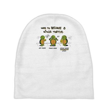 become a ninja turtle Baby Beanies