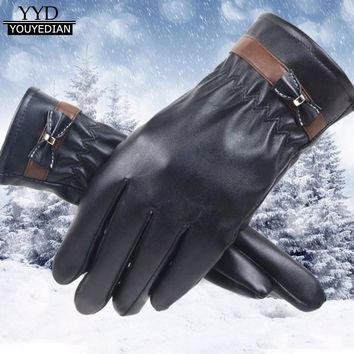 2017 New Fashion Women Ladies Winter Warm Gloves Faux Leather Driving Soft Lining Gloves Mittens #1106
