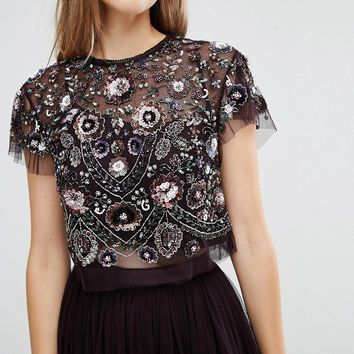 Needle & Thread Enchanted Lace Top at asos.com