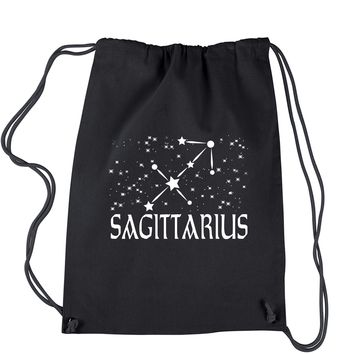 Sagittarius Zodiac Star Chart  Drawstring Backpack