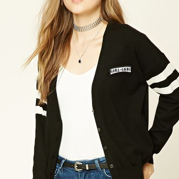 Girl Gang Patched Cardigan