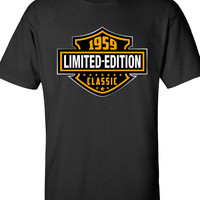 55th Birthday Gift 1959 Limited Edition Classic B-day T Shirt Cool hipster swag mens womens ladies TShirt T-Shirt T Shirt Tee  - DT-603