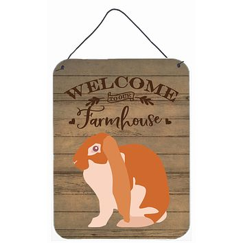 English Lop Rabbit Welcome Wall or Door Hanging Prints CK6906DS1216