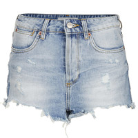 MOTO Bleach Ripped Hotpants - Bleach Stone