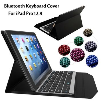 Pu Leather Waterproof Apple Ipad Ultra Thin Keyboard Cover 0909-47