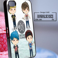 Rc512Y3_5 second of summer,5 SOS,Luke Hemmings - Accessories iPhone - design print for iPhone 5/5S - White Case - Material Hard Plastic (PC)