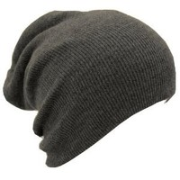 Amazon.com: Slouch Beanie Slouchy Hat Ski Hat Snowboard Hat Ribbed Beanie Dark Gray: Everything Else