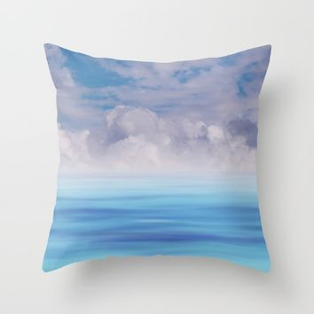 The Sea is Calm Throw Pillow by NaturalColors