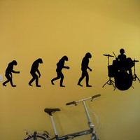 Drum set Evolution Rock Rock'n'Roll Drums Rocker Metal Hard Rock Heavy Metal Wall Art Wall Decals Wall Stickers tr168