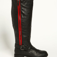 ZIPPER KNEE HIGH BOOTS