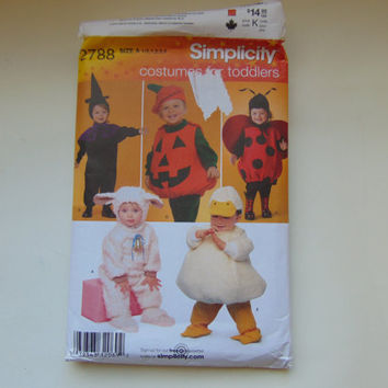 Simplicity 2788 Costumes Sewing Pattern For Toddlers lamb, duck, witch, pumpkin and ladybug