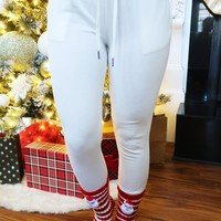 Jingle All The Way Joggers: White