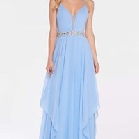 Alyce 60092 Chiffon Dress with Beaded Waist