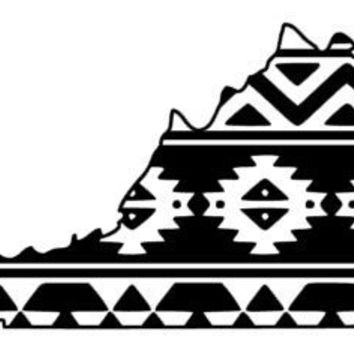 Aztec/Tribal Virginia Decal Aztec Car Window Decal Tribal Car Decal