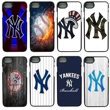 American New York Yankees Cell Phone Cases Hard Plastic Shell Phone Cover for iphone 8 7 6 6S PLUS X 5S 5C 5 SE iPod Touch 4 5 6