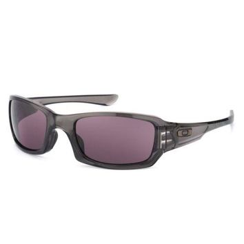Oakley Fives Squared Sunglasses Grey Smoke Frame Warm Grey Lens OO9238-05