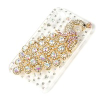 Rhinestone Peacock iPhone Case for 4 & 4S  | Icing