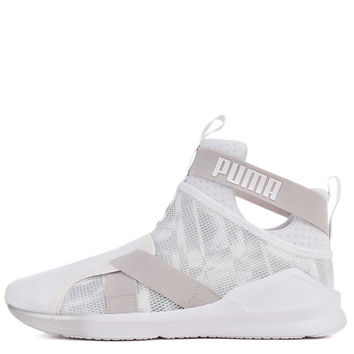 The Fierce Strap Swan Sneaker in White