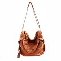 New Tassel Leather Handbag Cross Body Shoulder Bag handbag