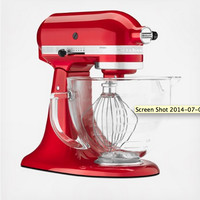 Artisan Design Series 5-Quart Tilt-Head Stand Mixer with Glass Bowl by KitchenAid on Zola