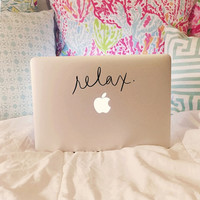 Relax Laptop Decal