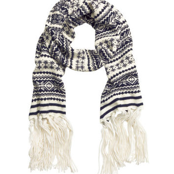 Jacquard-knit Scarf - from H&M