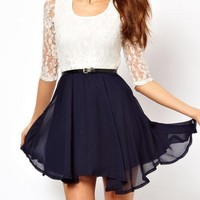 singlelady — lace chiffon dress