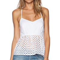 Susana Monaco Crossback Tank in White