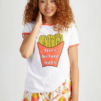 Dorm Decor Short Sleeves Fry Again Later Sleep Top