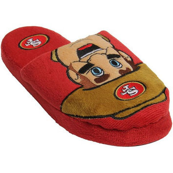 SAN FRANCISCO 49ERS OFFICIAL NFL YOUTH 8-16 MASCOT SLIDE SLIPPERS