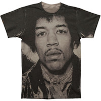 Jimi Hendrix Men's  Hendrix Slim Fit T-shirt Grey Rockabilia