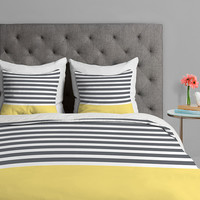 Elegant Stripes by Hello Twigs Duvet Cover