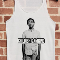 Childish Gambino Tank Top Hip Hop Shirt Sleeveless Tunic TShirt T Shirt Singlet Women Size S M L