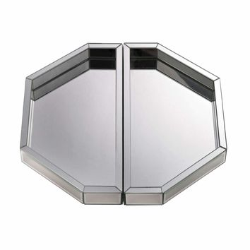 Set of Two Mirrored Trays