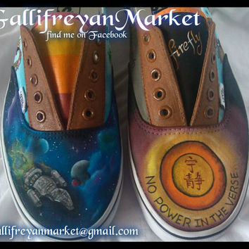 Custom Hand Painted Vans inspired by Firefly