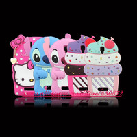For Lenovo A2010 Hot 3D Silicon Stitch Unicorn Cupcake Cat Cartoon Style Soft Phone Back Skin Case Cover for Lenovo A 2010